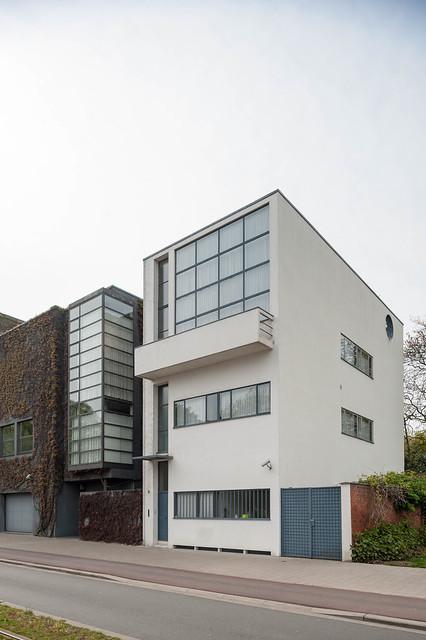 Belgium, Antwerp, Maison Guiette designed by Le Corbusier