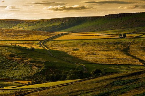 thedale derbyshire stanageedge roadtohathersage farmland summer evening summerevening sunset goldenhour