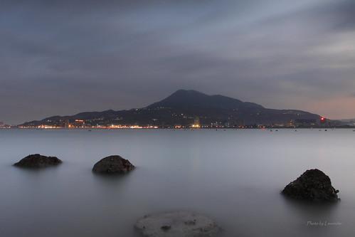 夕陽 觀音山 油車口 沙崙 淡水 新北市 台灣 taiwan sunset