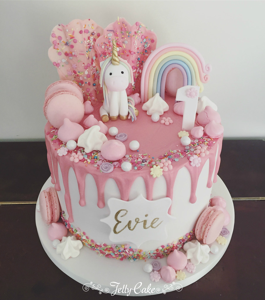 1st Birthday Unicorn Drip Cake Trudy Mitchell Flickr