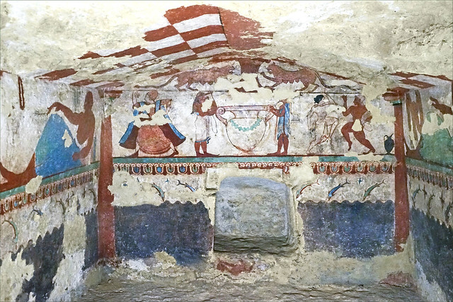 La tombe étrusque des Lionnes (Tarquinia, Italie)