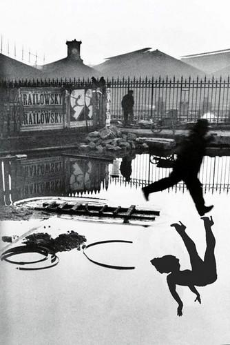 Henri Cartier Bresson Behind the Gare Saint-Lazare, 1932 w Betty shadow