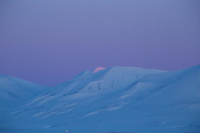 Sunset in Svalbard