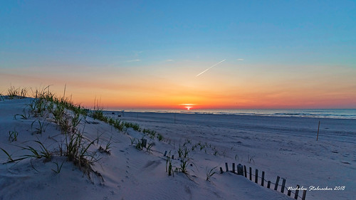 sunrise sunset beach bay shore water outdoors waves sea isle city nj new jersey canon rebel t7i townsends inlet