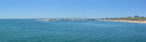 california santabarbara harbor marina sailboat pacificocean breakwater pointcastillo sandybeach joelach