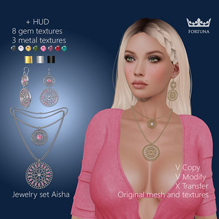 Jewelry set Aisha exclusively Avenue event | by Fortuna by Elen Wemyss