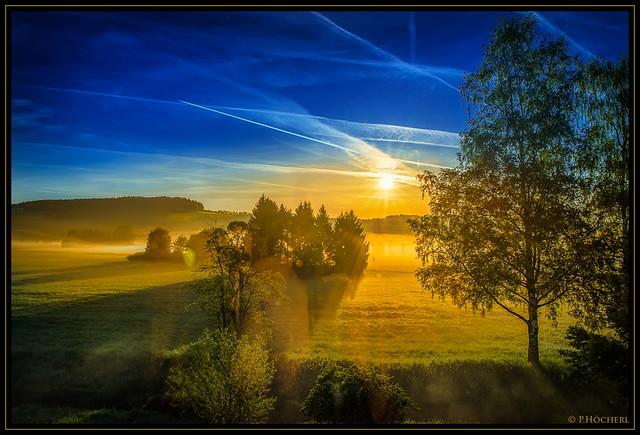 Waldnaabauen bei Sonnenaufgang