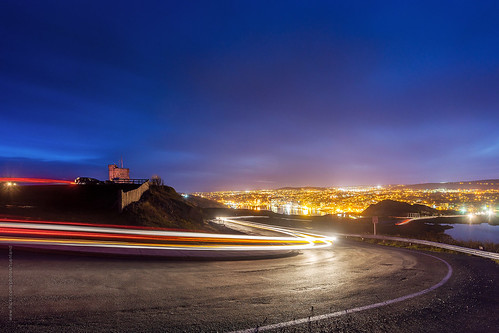 life road lighting street city longexposure summer mountain canada skyline night newfoundland evening twilight nikon downtown cityscape traffic cloudy harbour hill stjohns citylights lighttrails bluehour signalhill nfld nightfall atlanticcanada d600 stjohnsharbour newfoundlandandlabrador downtownstjohns nikond600