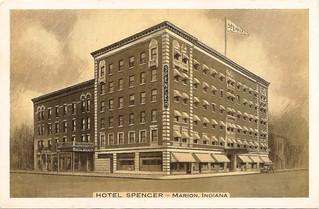 IN, Marion-Hotel Spencer Postcard