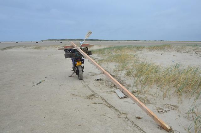 Vlieland - Vliehors - strandjutten