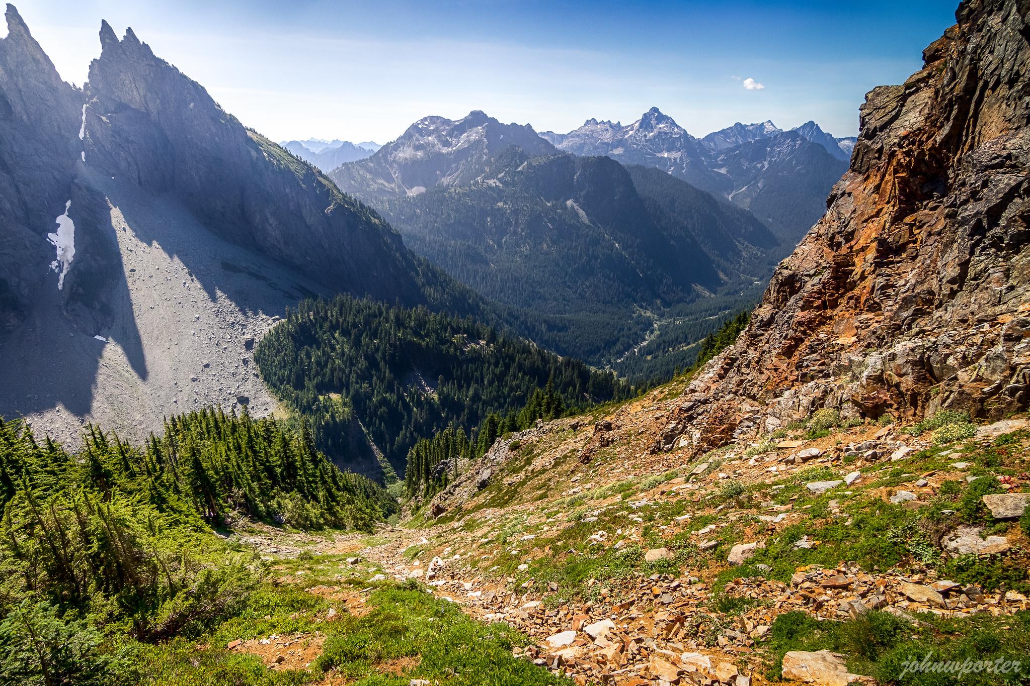 Steep southwest slopes