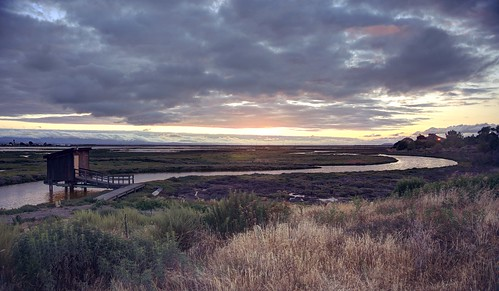 sanjose alviso california slough bay sanfranciscobay cloudy clouds day sunset 3xp raw nex6 photomatix grass canal fav200 donedwardssanfranciscobaynationalwildliferefuge donedwards wildliferefuge hdr sun donedwardsnationalwildliferefuge siliconvalley