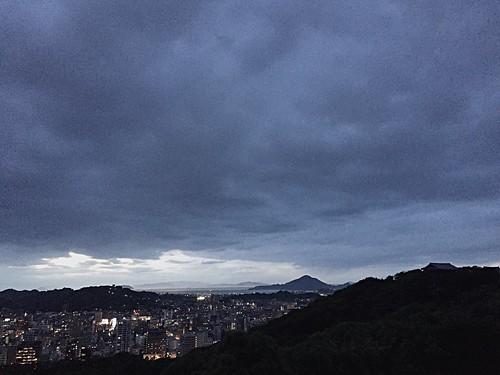 sunset summer castle japan landscape evening asia view dusk july 日本 12th ehime matsuyama 松山 松山城 2016 matsuyamacastle