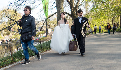 Bride, Groom and Photographer in Central Park | by UrbanphotoZ