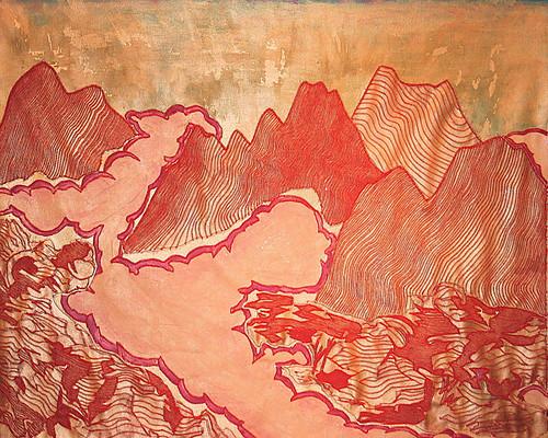 "Steve MacDonald ""Mountains with purple Fog"""