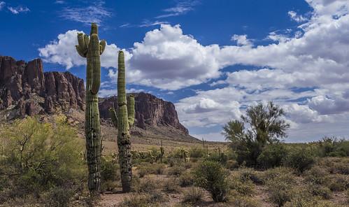 apachetrail arizona clouds desert landscape rocks apachejunction unitedstates us