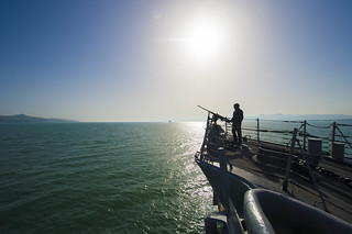 A Sailor stands watch. | by Official U.S. Navy Imagery