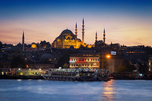 asia bridge europe galata istanbul longexposure rivercruise seascape suleimanmosque sunrise sunset travel vacation turquia tr