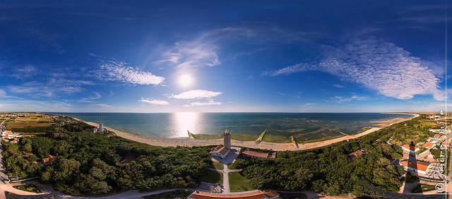 Panoramique du haut du Phare des Baleines