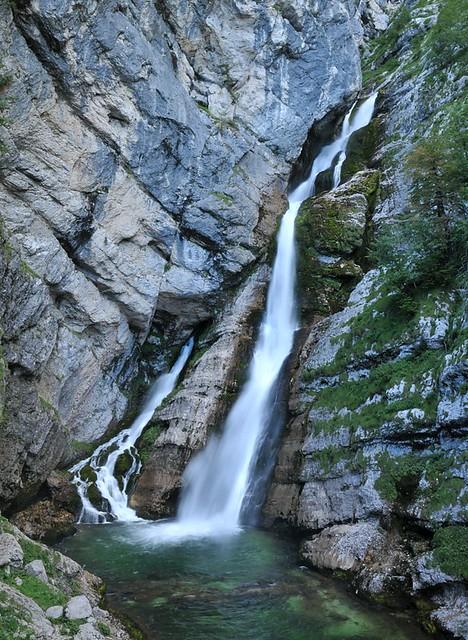Julské Alpy - vodopád Savica