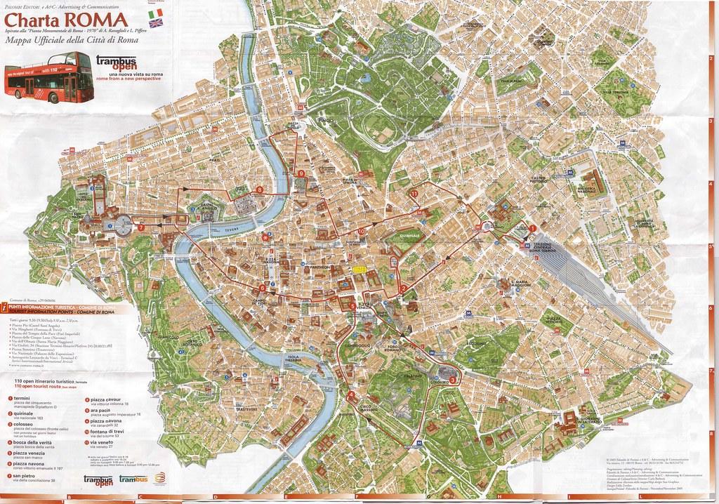 Mapa De Roma Turistico.Callejero Mapa Turistico Centro Roma Gigante Zifra Ra Flickr