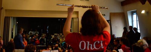 Présentation de la flûte au cours d'une répétition publique