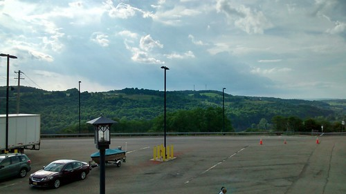 whitneypoint ny newyork interstate81 restarea textstop scenic mountains lightpole lampstand parking outdoors nature natural landscape sky clouds