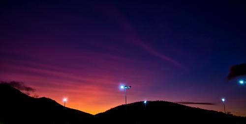 sunset sky lights tasmania hobart mtwellington