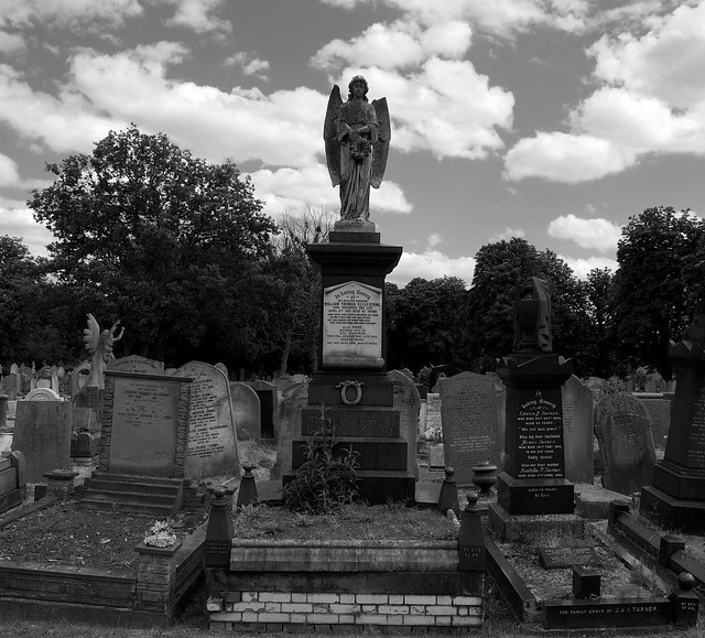 The grave of