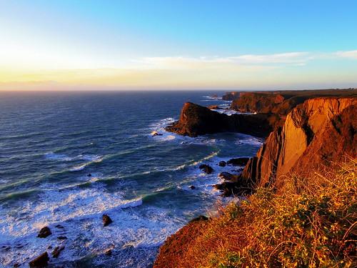 portugal costa vicentina coast küste klippen brandung sonne sonnenuntergang sundown sunset 52erbild pentax q10 udosteinkamp atlantischer atlantic steilküste cliff