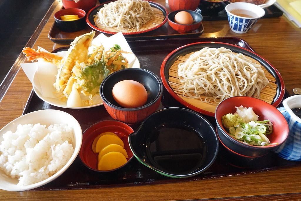 天ぷらそば定食