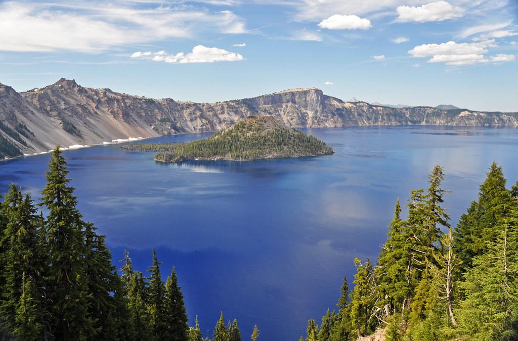 Crater Lake Caldera & Wizard Island Cinder Cone (Oregon, U