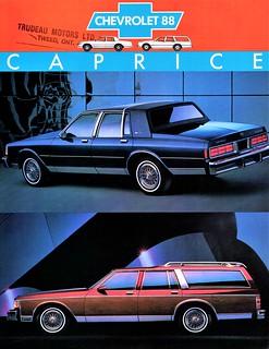 1988 Chevrolet Caprice Classic Sedan & Station Wagon (Canada)
