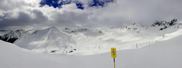 Panorama view to Alp Trida - Graubünden - Switzerland