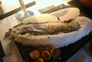 Salt crusted baked whole fish | by Camemberu