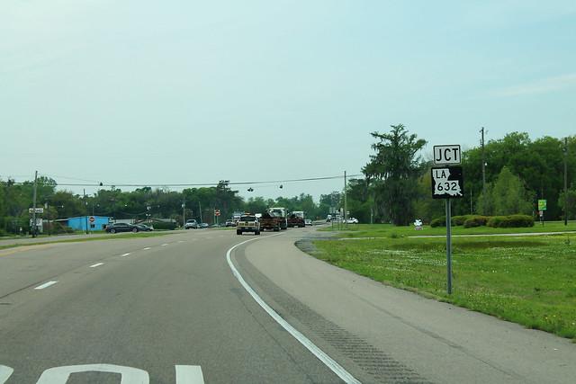US90 West - Jct LA632 Sign