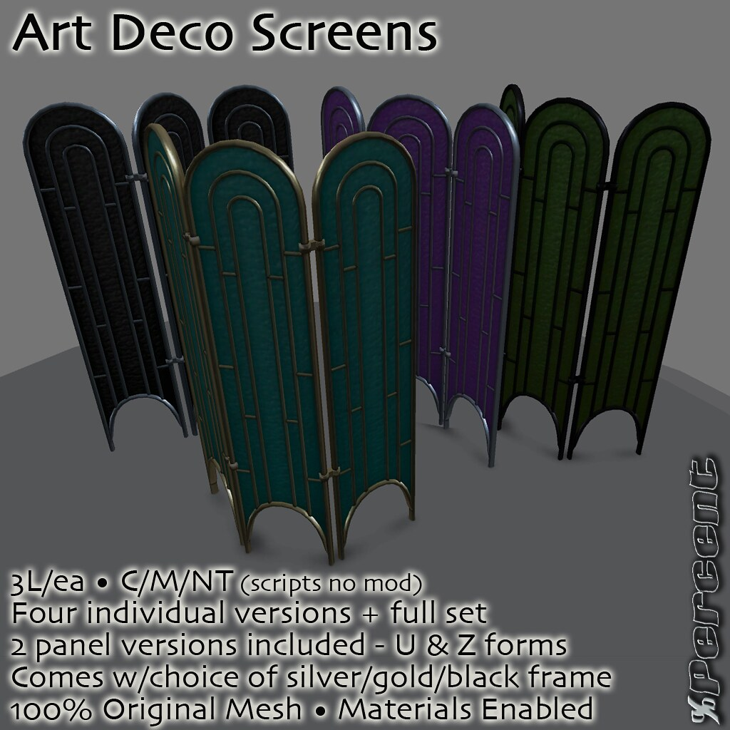 Art Deco Room Divider Screens new for FF! | The Fantasy Fa… | Flickr
