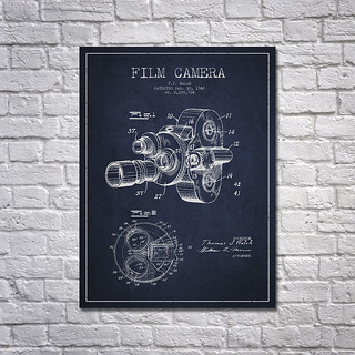 1938 Film Camera Patent Drawing | by Patents Wall Art