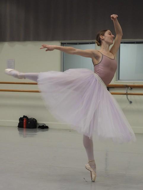 Lana Jones - Australian Prima Ballerina practising for