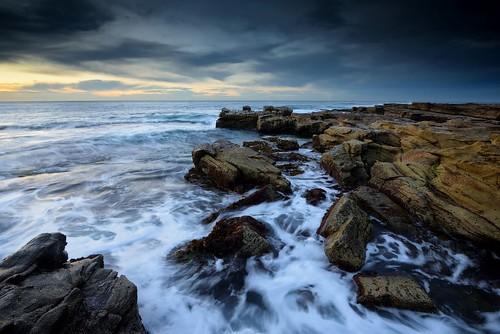 swanseaheads newsouthwales australia nikond750 nikon1635mmf4 seascape rocks ocean shore watermovement