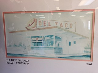 On display inside a Barstow Del Taco.