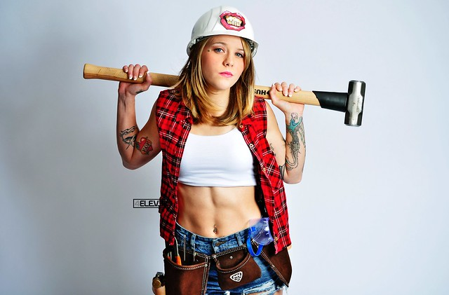 Lauren is ready for work 0354