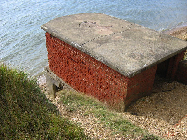 Old World War II pill box