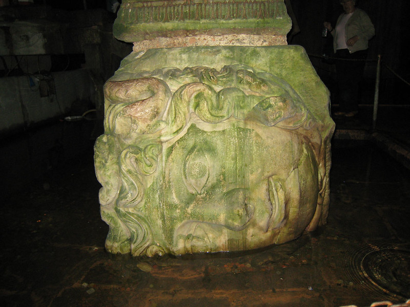 Head of Medusa in the Roman Basilica Cistern