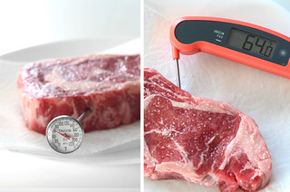 Measuring temperature of raw steak | by yourbestdigs