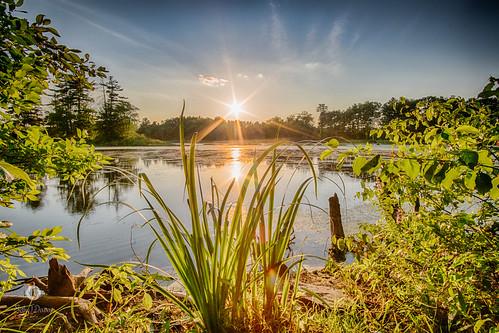 hdr minefallspark nashua newhampshire sethjdeweyphotography evening scenic summer sunset water