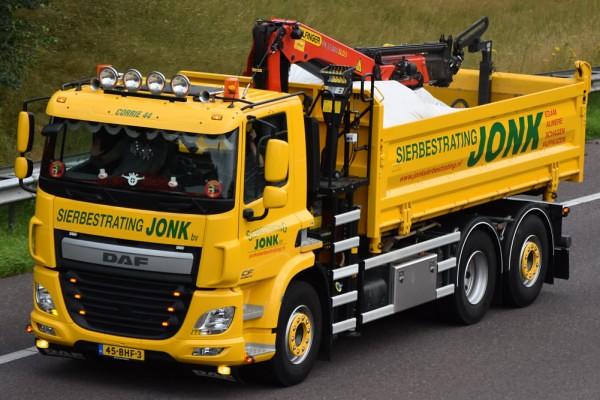 nl] sierbestrating jonk daf cf 45-bhf-3 | truck_photos | flickr
