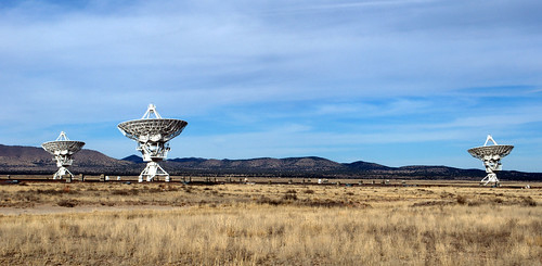 At the Very Large Array:  Dish Trio,  Asymmetric Perspective | by JoeInSouthernCA