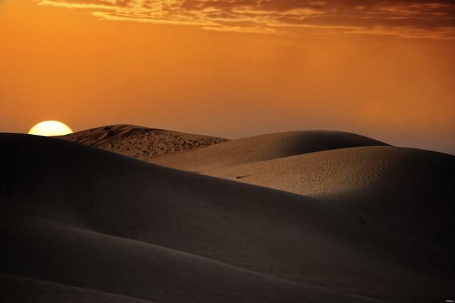 Dubai Desert. Shapes.