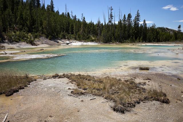 Crackling Lake, Porcelain Basin, Yellowstone National Park, Park County, Wyoming